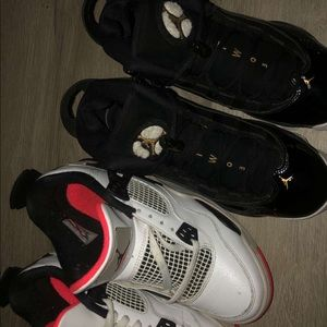 Two pairs of Jordans together!